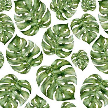 Klebefolie - Aquarell Monstera Blätter