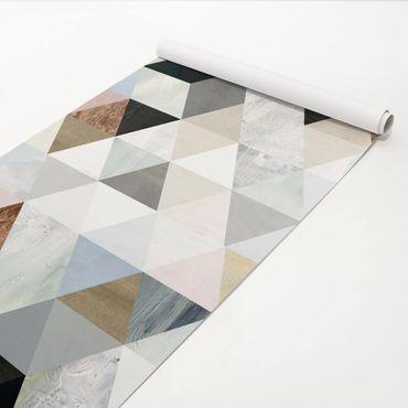 Klebefolie - Aquarell-Mosaik mit Dreiecken I