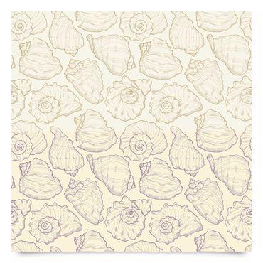 Klebefolie Bad - Maritimes Muschel-Muster in 2 Farben - Dekorfolie Badezimmer