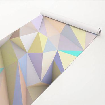 Klebefolie - Geometrische Pastell Dreiecke in 3D