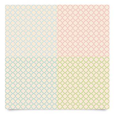 Klebefolie Set - Helles marokkanisches Mosaik in 4 Farben - Dekorfolie