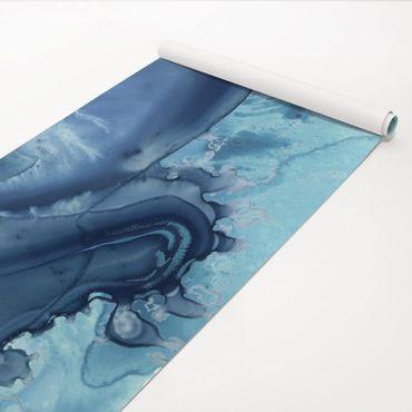 Klebefolie - Welle Aquarell Blau I