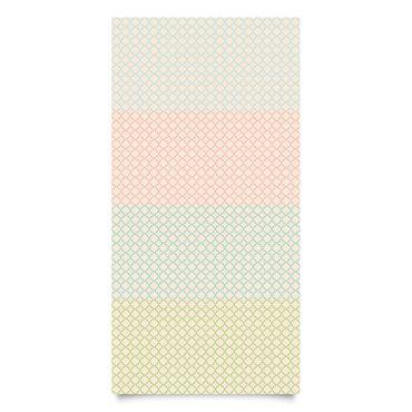Klebefolien Set - Marokkanisches Mosaik Vierpassmuster mit 4 Farben - Dekorfolie