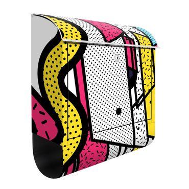 Briefkasten - Komposition Neo Memphis Pink und Gelb