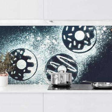 Küchenrückwand - Backrezept Donuts