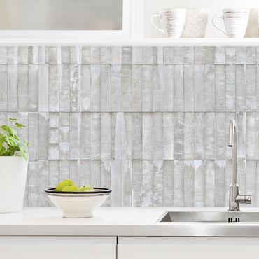 Küchenrückwand - Beton Ziegeltapete