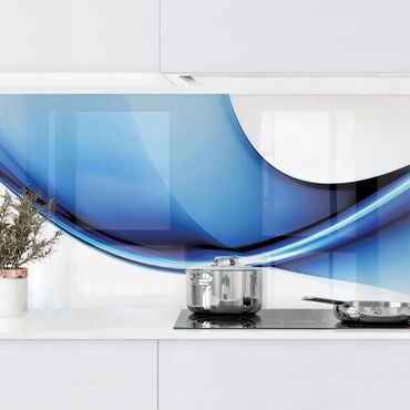 Küchenrückwand - Blaue Wandlung