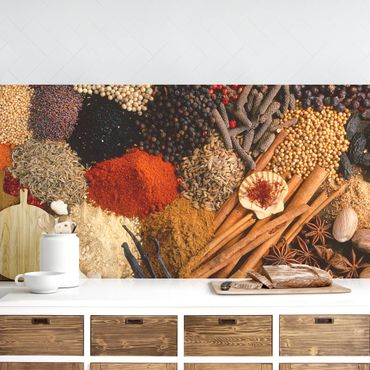 Küchenrückwand - Exotische Gewürze