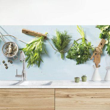 Küchenrückwand - Gebündelte Kräuter