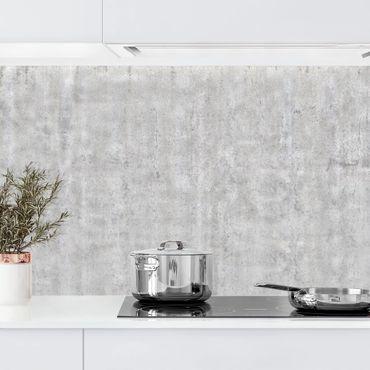 Küchenrückwand - Große Wand mit Betonlook