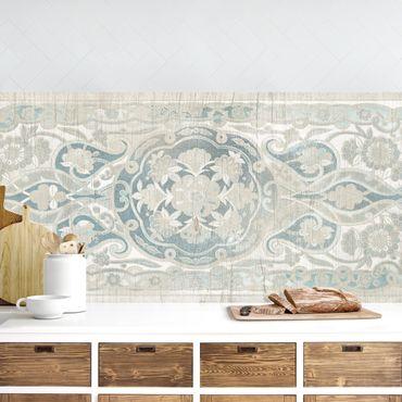 Küchenrückwand - Holzpaneel Persisch Vintage IV