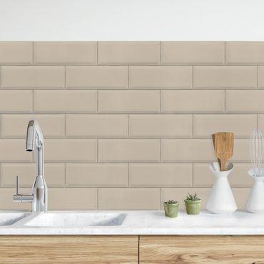 Küchenrückwand - Keramikfliesen Taupe
