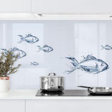 Küchenrückwand - Liquid Silver Fish