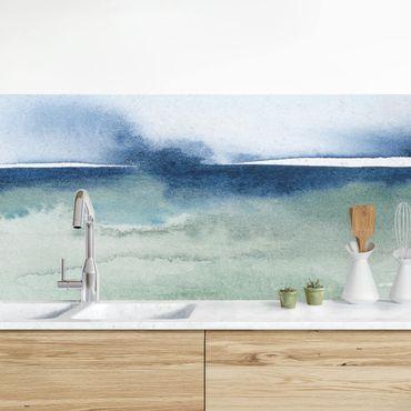 Küchenrückwand - Meereswogen I