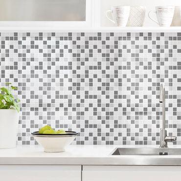Küchenrückwand - Mosaikfliesen Grau