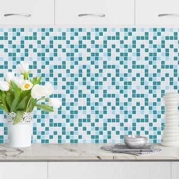 Küchenrückwand - Mosaikfliesen Türkis Blau