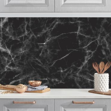 Küchenrückwand - Nero Carrara