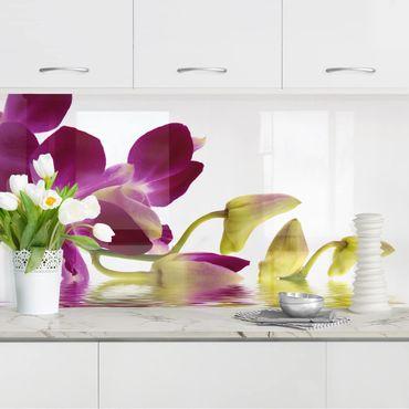 Küchenrückwand - Pink Orchid Waters
