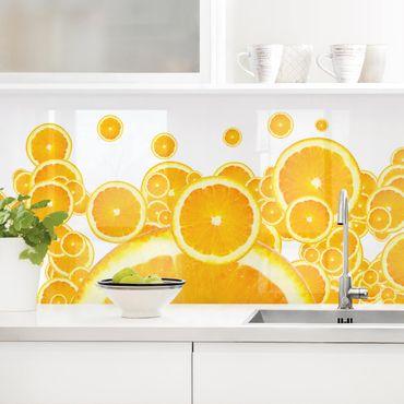 Küchenrückwand - Retro Orange Pattern II