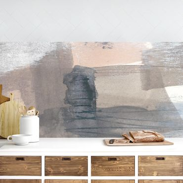 Küchenrückwand - Schattierungen in Sepia I