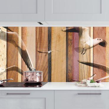 Küchenrückwand - Seemöwen