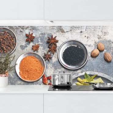 Küchenrückwand - Shabby Gewürzplatte