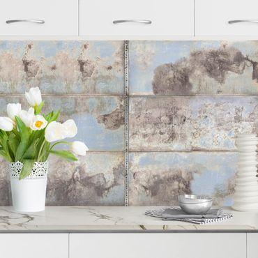 Küchenrückwand - Shabby Industrial Metalloptik