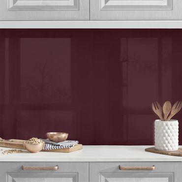 Küchenrückwand - Toskana Weinrot