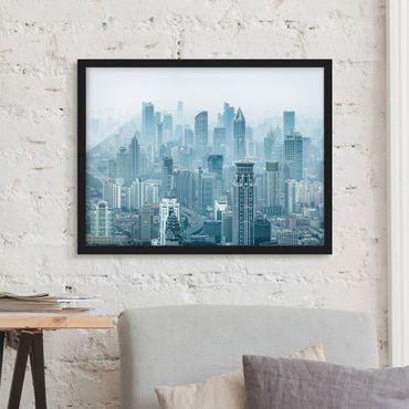 Bild mit Rahmen - Kühles Shanghai - Querformat