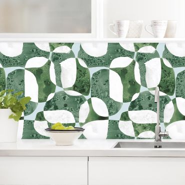 Küchenrückwand - Lebende Steine Muster in Grün