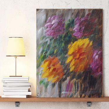 Leinwandbild - Alexej von Jawlensky - Chrysanthemen im Sturm - Hoch 3:4