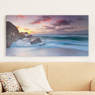 Leinwandbild - Am Meer in Cornwall - Quer 2:1