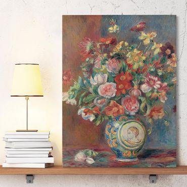 Leinwandbild - Auguste Renoir - Blumenvase - Hoch 3:4