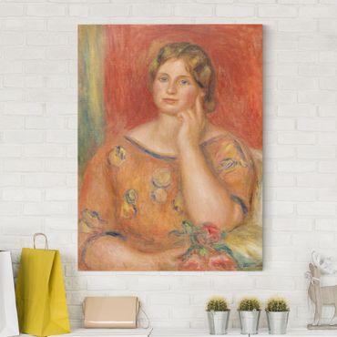 Leinwandbild - Auguste Renoir - Frau Osthaus - Hoch 3:4
