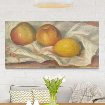 Leinwandbild - Auguste Renoir - Zwei Äpfel und eine Zitrone - Quer 2:1