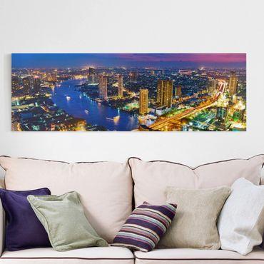 Leinwandbild - Bangkok Skyline - Panorama Quer