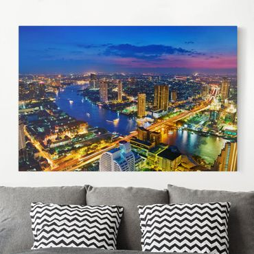 Leinwandbild - Bangkok Skyline - Quer 3:2