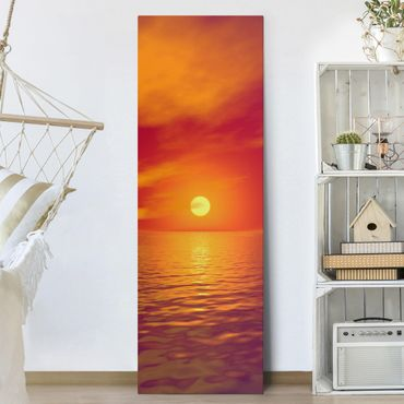 Leinwandbild - Beautiful Sunset - Panorama Hoch