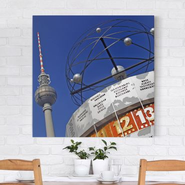 Leinwandbild - Berlin Alexanderplatz - Quadrat 1:1