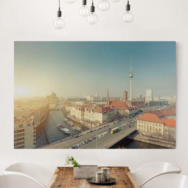 Leinwandbild - Berlin am Morgen - Quer 3:2