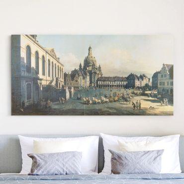 Leinwandbild - Bernardo Bellotto - Der Neue Markt in Dresden - Quer 2:1