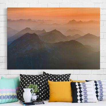 Leinwandbild - Blick von der Zugspitze - Quer 3:2
