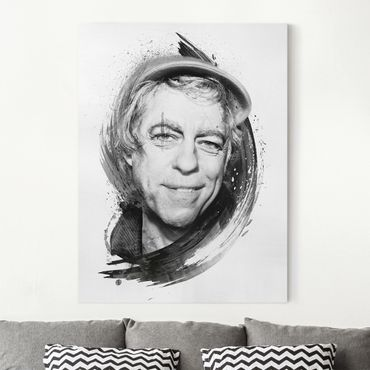 Leinwandbild - Bob Geldof - Strassenkoeter - Viva con Agua - Hoch 3:4
