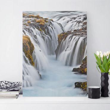 Leinwandbild - Brúarfoss Wasserfall in Island - Hoch 3:4