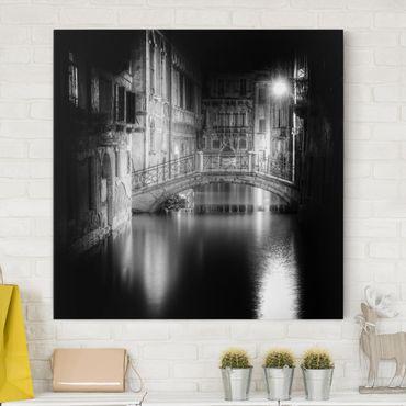 Leinwandbild - Brücke Venedig - Quadrat 1:1