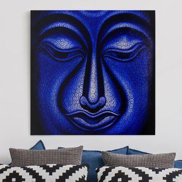 Leinwandbild - Buddha in Nepal - Quadrat 1:1