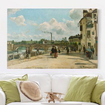 Leinwandbild - Camille Pissarro - Ansicht von Pontoise - Quer 3:2