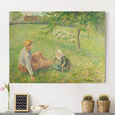 Leinwandbild - Camille Pissarro - Die Gänsehirtin - Quer 4:3