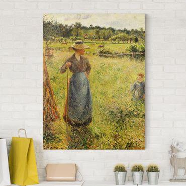 Leinwandbild - Camille Pissarro - Die Heumacherin - Hoch 3:4