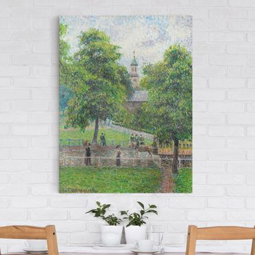 Leinwandbild - Camille Pissarro - Saint Anne's Church, Kew, London - Hoch 3:4